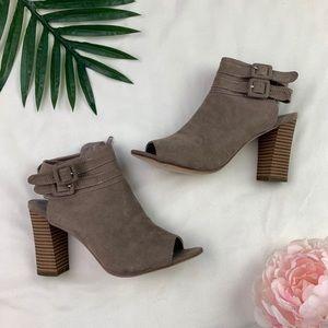 Madden Girl Open Toe Heel Bootie Mules